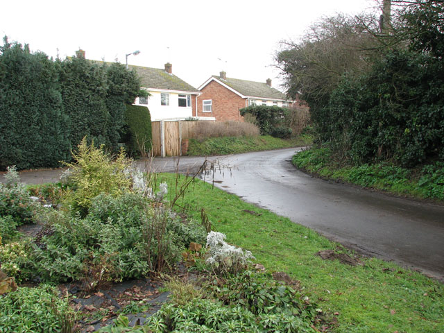 Houses by the junction of Church Lane and Bell Lane
