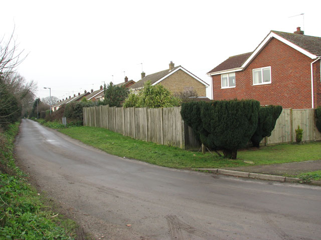 View north-west along Church Lane
