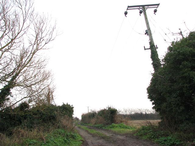 Track to reservoir east of Belton