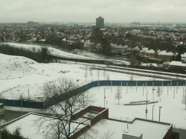 Wembley: a snow scene
