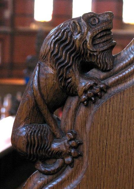 St Dunstan, Cheam - Bench elbow