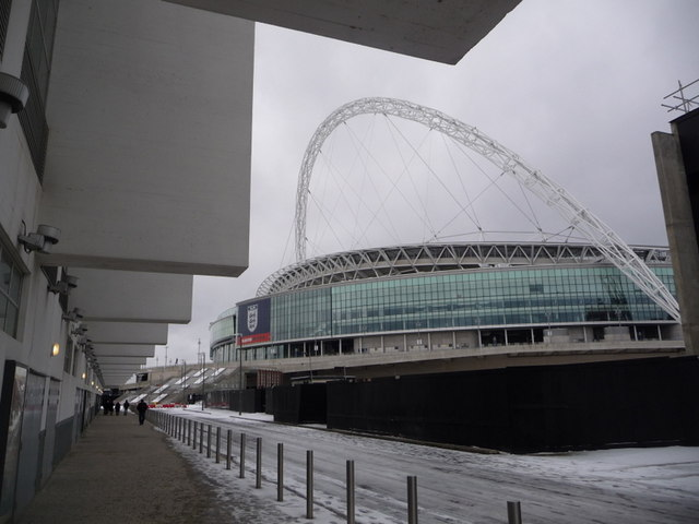 Wembley: the stadium and the side of the Arena