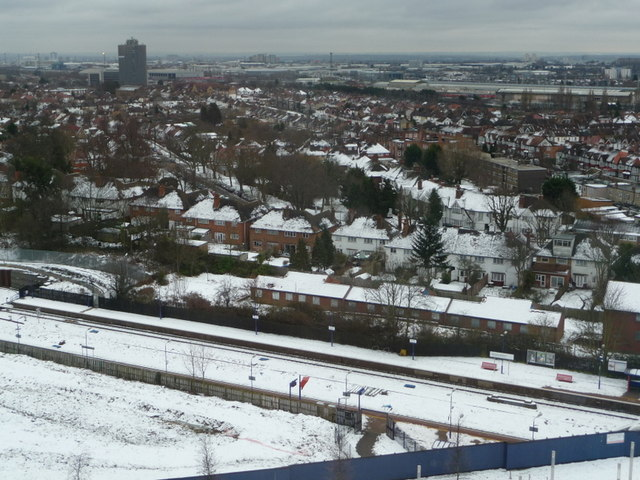 Wembley: snow-covered suburbs