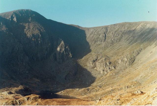 Cwm Ffynnon Lloer and Pen yr Ole Wen