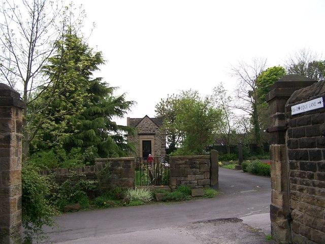 Exit from Birley Hall, Edge Lane, Birley Edge, Sheffield