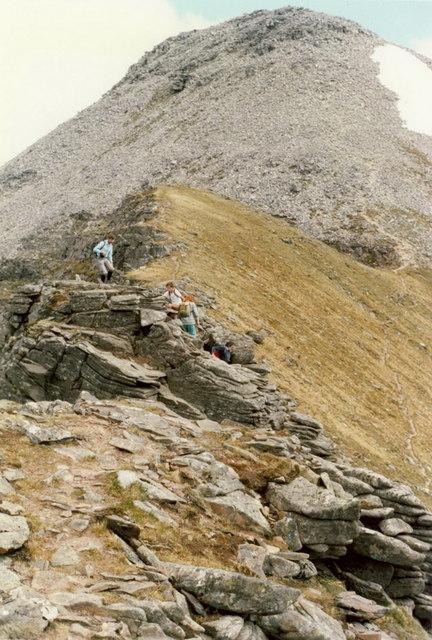 Spidean a' Choire Lèith from the Pinnacles ridge
