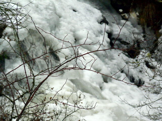 Frozen waterfall near Cannich