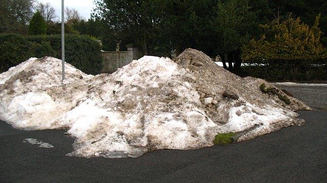 Snow pile, Bush