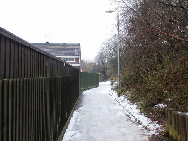 Wintry path, Pilton Vale