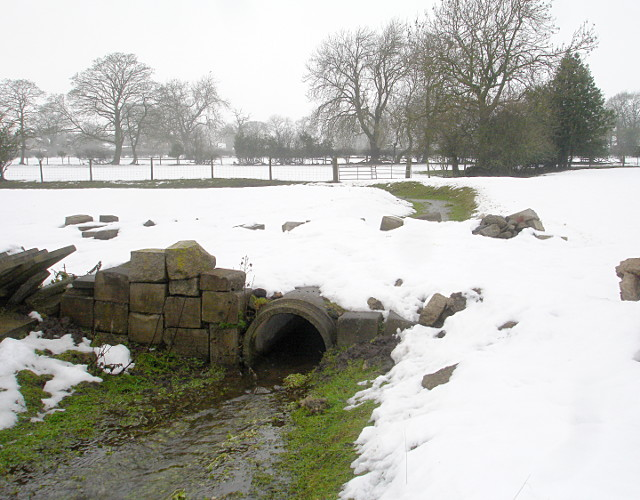 Culvert filling up in the thaw