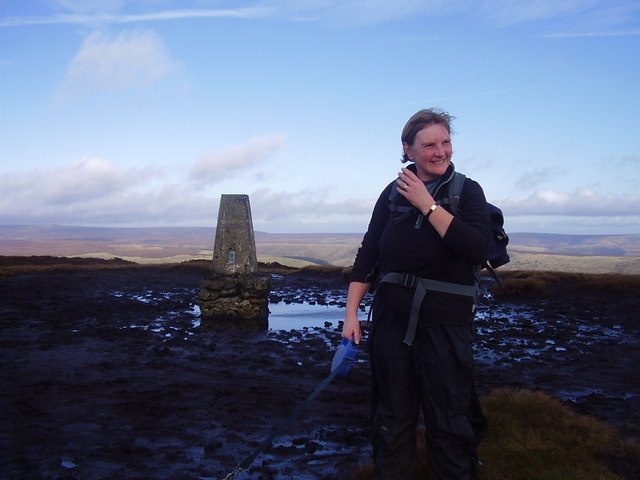Edale moor trig point.