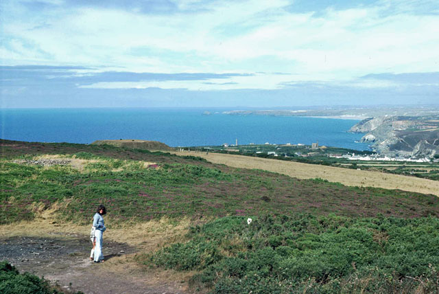 View from St Agnes Beacon, 1976