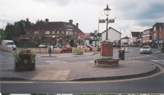 The Kings Arms and street scene in Bagshot