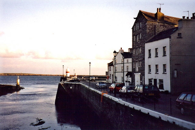 Castletown - Harbour entrance and The Quay