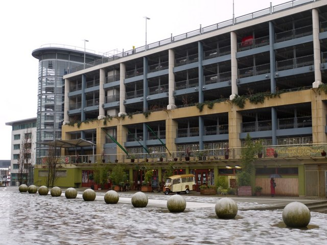 Car park and restaurant, Waterloo Square