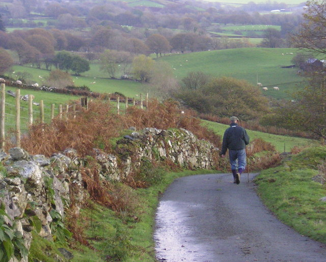 Snowdonia: the road gets steeper