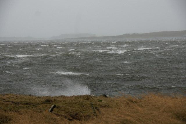 Waves on the voe at Baltasound