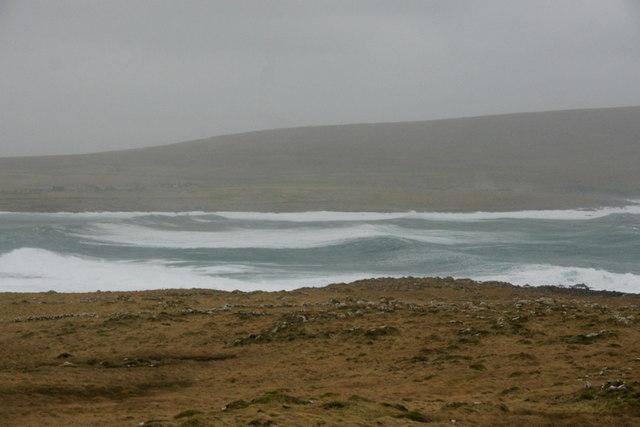Heavy seas in Harold's Wick
