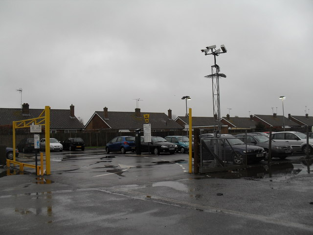 Railway station car park at Angmering