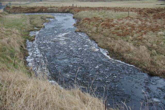 Crushed ice in the Burn of Burrafirth
