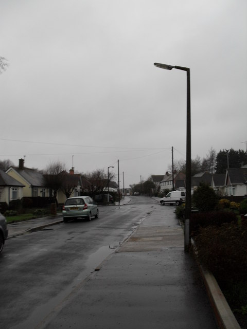 Lamppost in a gloomy Angmering Way