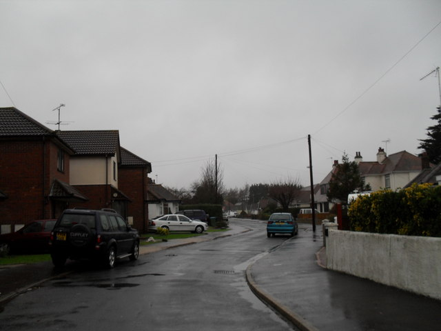 A very wet winter's day in Angmering Way