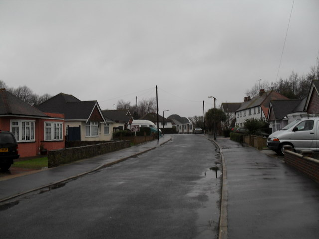 Mid section of Angmering Way during heavy rain