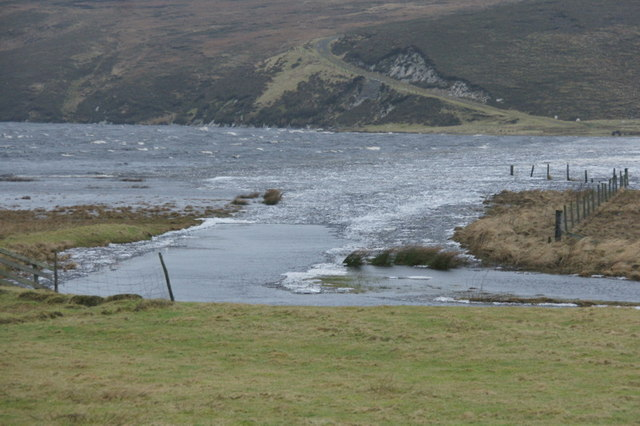 Ice on the north end of Loch of Cliff