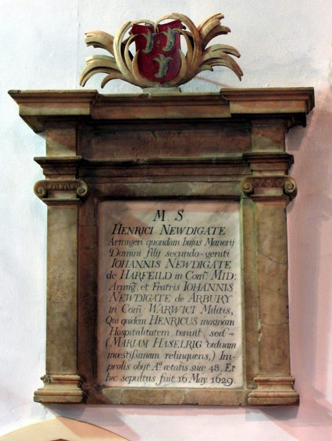 St Giles, Ashtead, Surrey - Wall monument