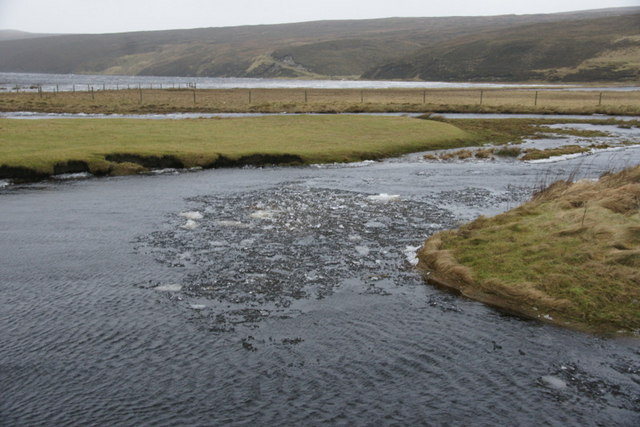 Ice in the Burn of Burrafirth