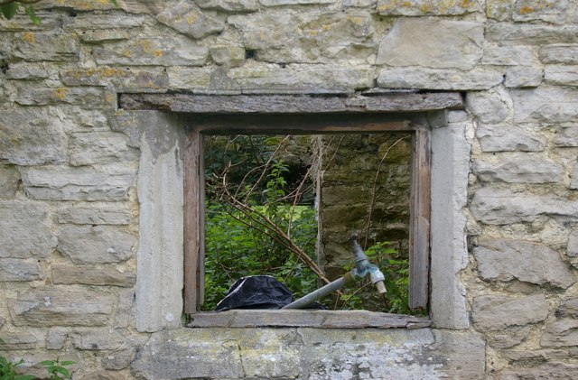 Window opening of an old farmhouse