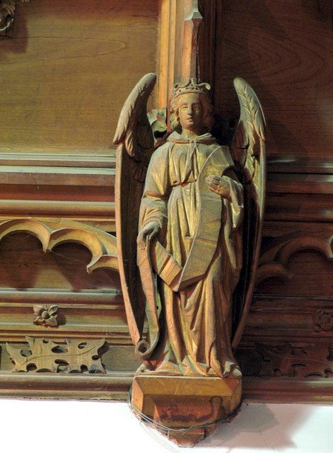 St Giles, Ashtead, Surrey - Roof angel