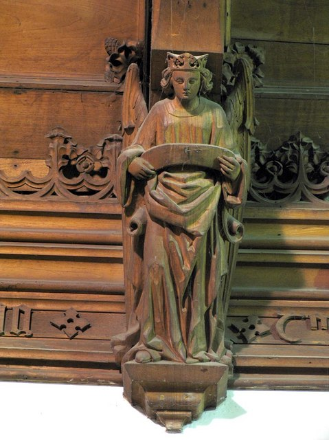 St Giles, Ashtead, Surrey - Roof angel