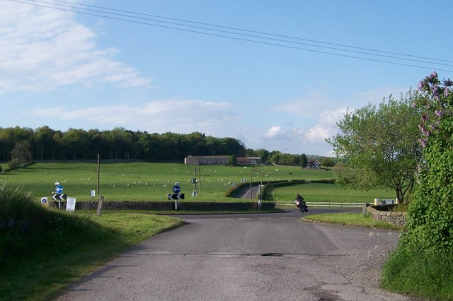A speeding Bert negotiates the roundabout near to the former Hassop Station, Hassop, Derbyshire