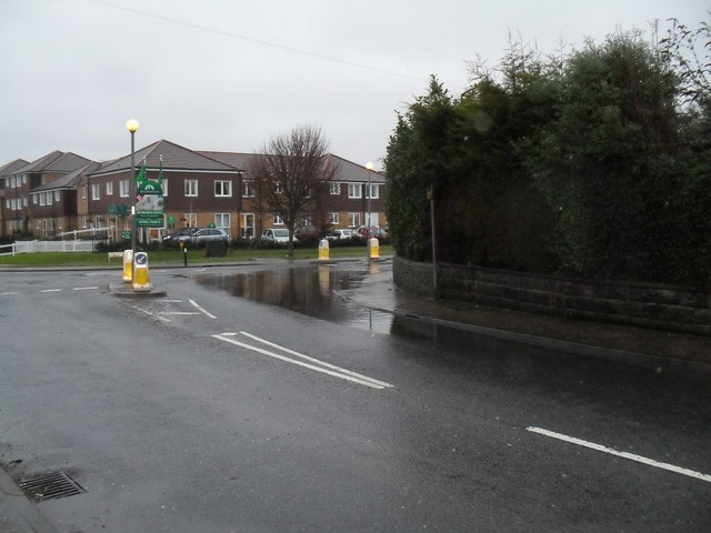 Flooding after the recent snow on the B2140