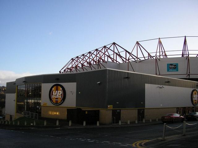 up front sportstore, Bradford City Football Ground