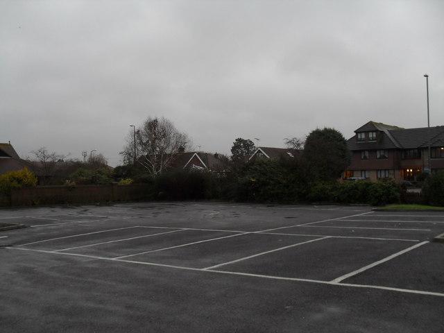 An empty surgery car park in Sheepfold Avenue