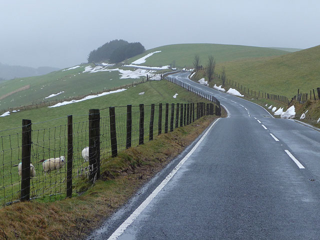 The A4120, after the snows