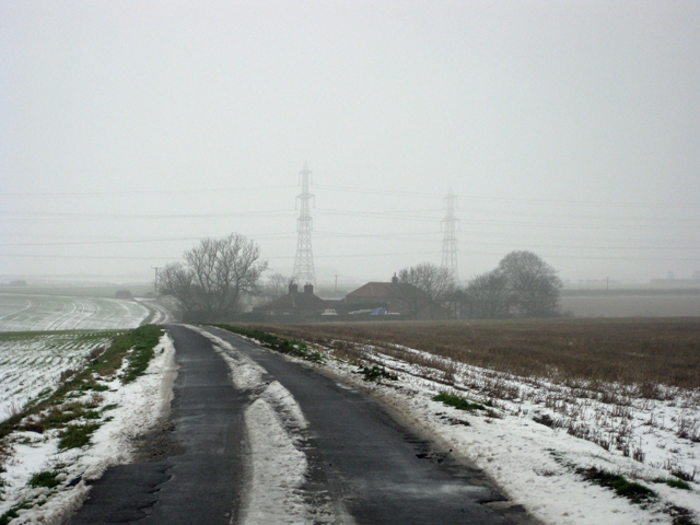 Horkstow Road near North Wold Farm
