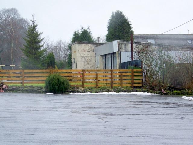 Disused garage near Fovant