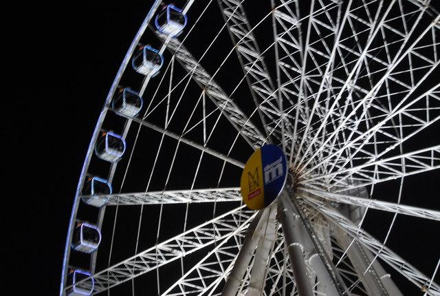 Part of the Ferris wheel, Exchange Square