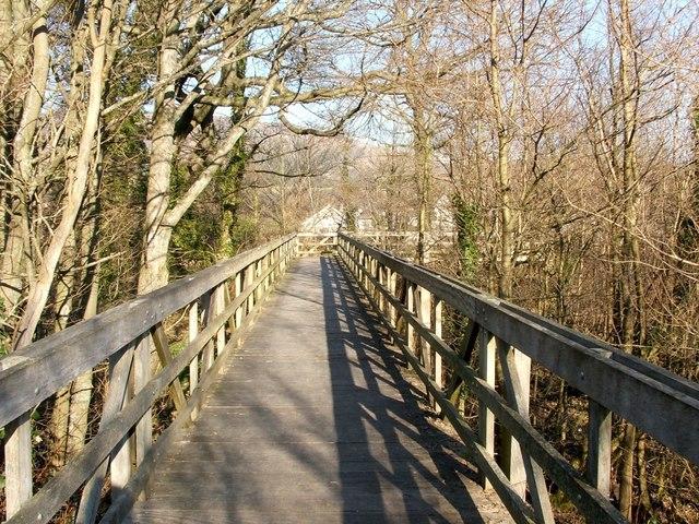 Footbridge at the Saltings