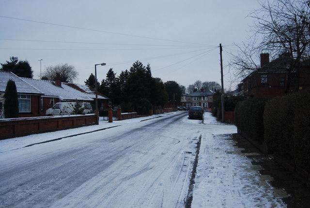 Grange Rd in the snow