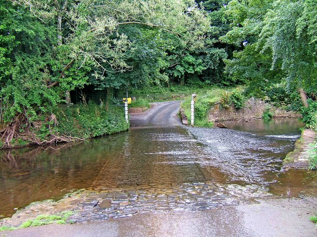 The ford across the River Rea