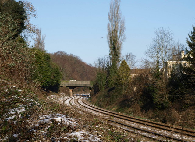 Railway line north of Torre