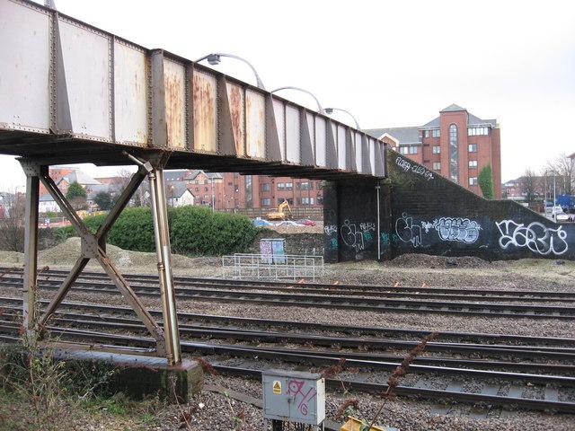 Pellet St. footbridge, Cardiff