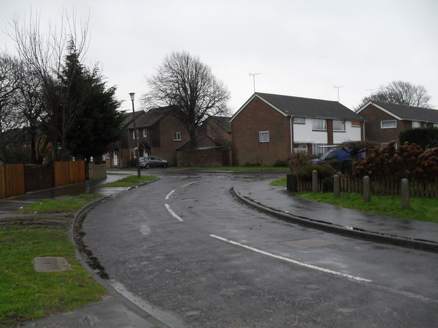 Looking from Winchester Road into Guildford Road