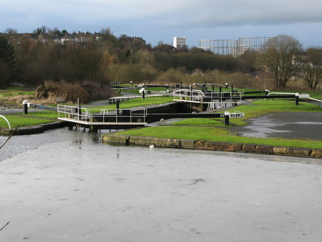 Locks 23 and 24 on the Forth and Clyde Canal