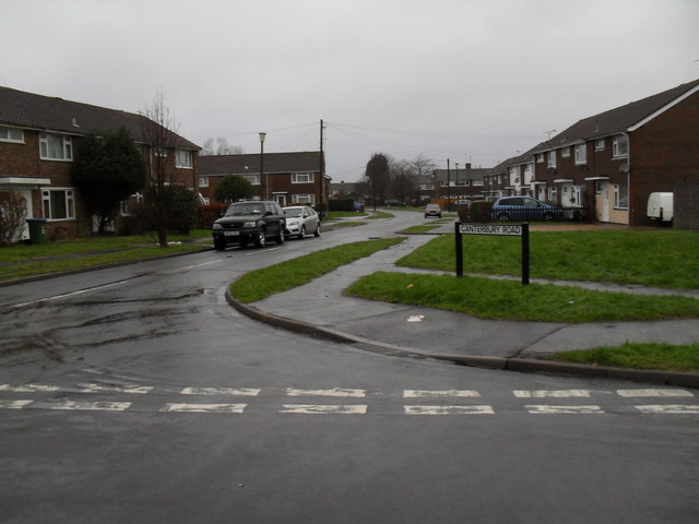Looking from Guildford Road into Canterbury Road