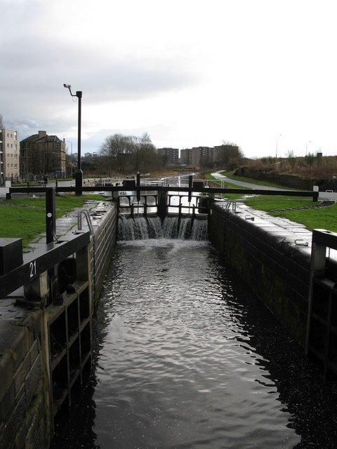 Lock 21 on the Forth and Clyde Canal